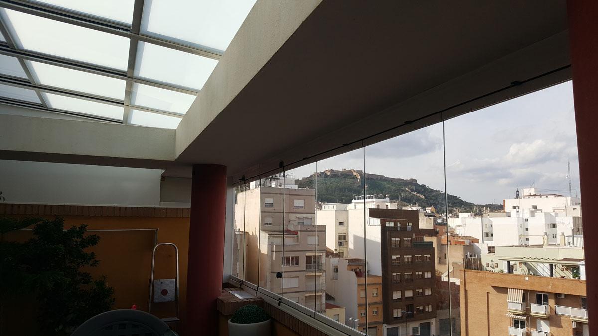 Cerramiento de terraza sistemas claver for Cerramiento aluminio terraza